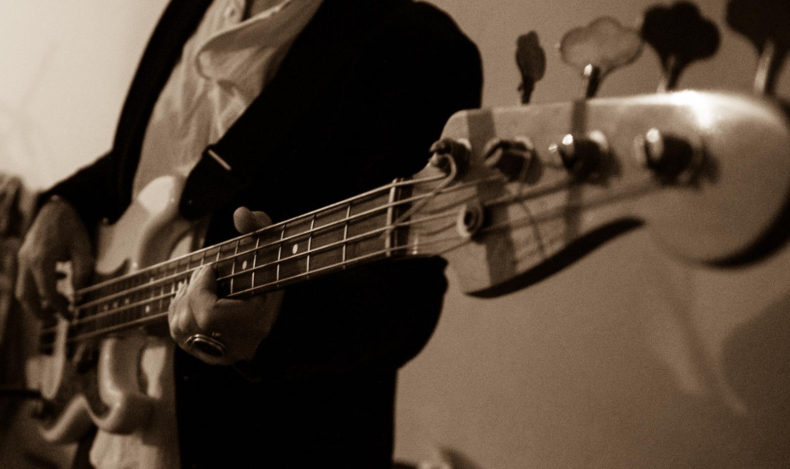 Accompanying bassist - photo by Dean Zobec