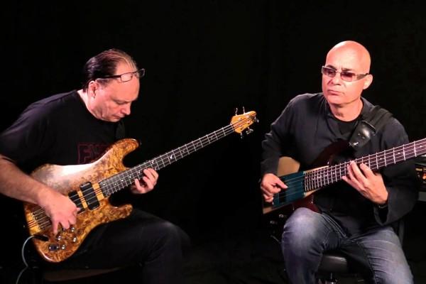Jan-Olof Strandberg and Dominique Di Piazza: Bass Duo Improvisation