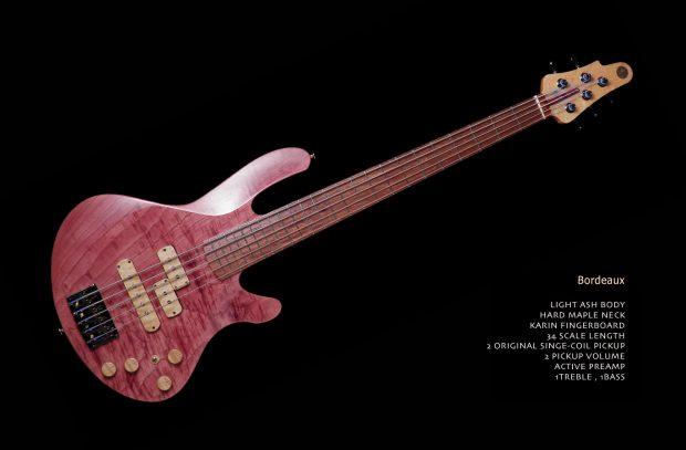 Jersey Girls Homemade Guitars Goose Bordeaux Bass