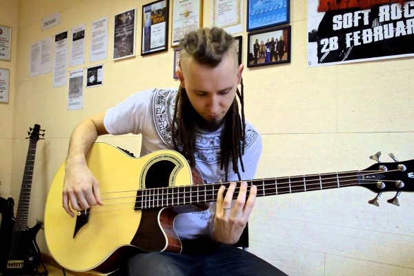 """Dmitry Lisenko: """"Drifting"""" Acoustic Bass Guitar Cover"""