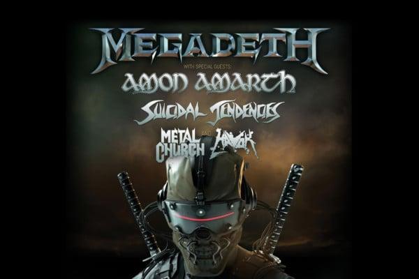 Megadeth Announces Tour with Amon Amarth, Suicidal Tendencies, Metal Church, and Havok