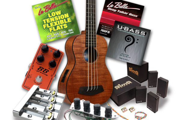 """Contest: Win a """"Lords of the Low End"""" Bass Gear Prize Pack from La Bella, Sadowsky, Kala, SimS, Xotic and Hipshot"""