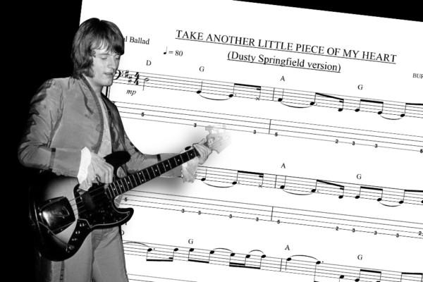 "Bass Transcription: John Paul Jones' Bass Line on Dusty Springfield's ""Take Another Little Piece of My Heart"""