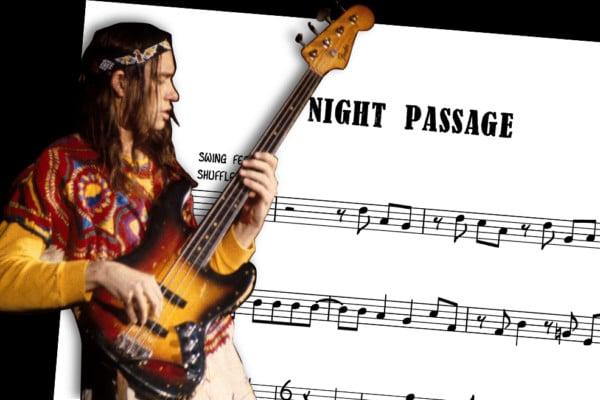 "Bass Transcription: Jaco Pastorius's Bass Line on Weather Report's ""Night Passage"""