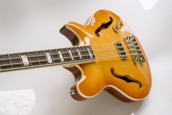 Bass of the Week: Ploughman Guitars Semi-Hollow Bass