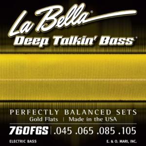 La Bella Gold Flats Flat Wound Bass Strings