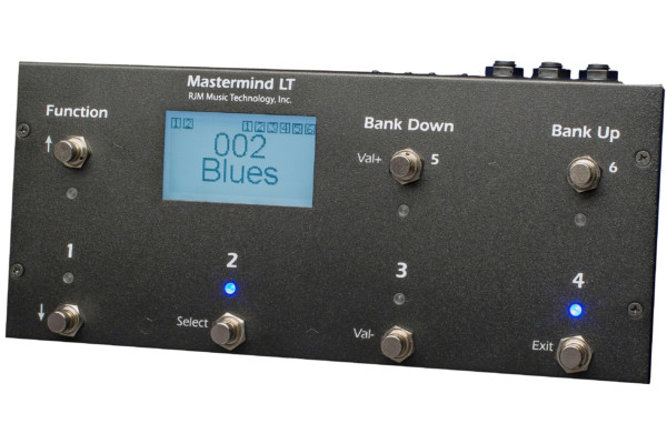 RJM Music Technology Introduces the Mastermind LT MIDI Foot Controller