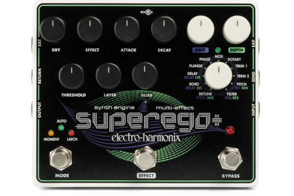Electro-Harmonix Introduces the Superego+ Synth Engine / Multi Effect Pedal