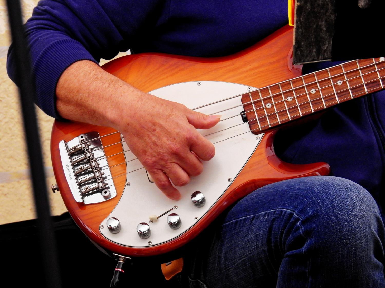 Bassist Right Hand Closeup