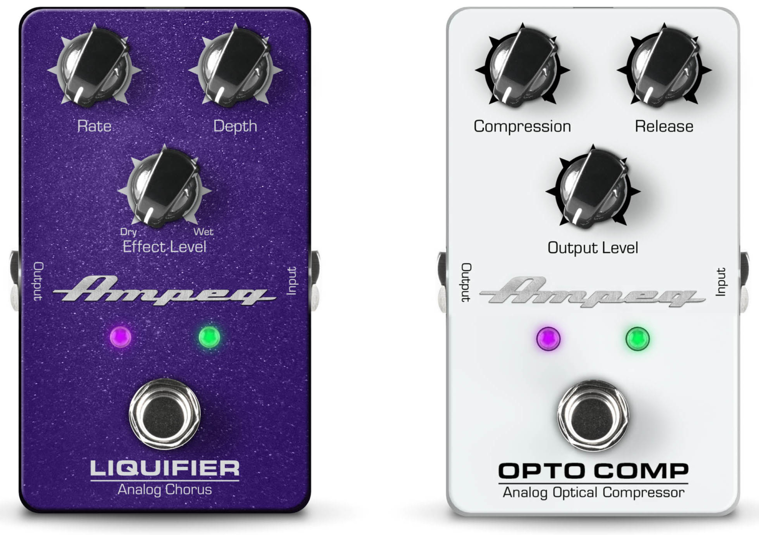Ampeg Liquifier and Opto Comp Pedals