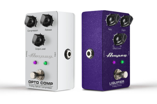 Ampeg Introduces Liquifier and Opto Comp Pedals