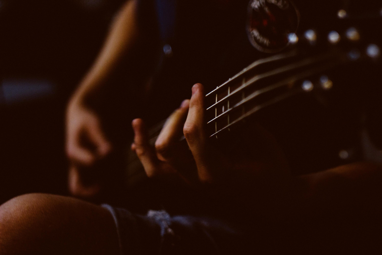 Bassist Performing