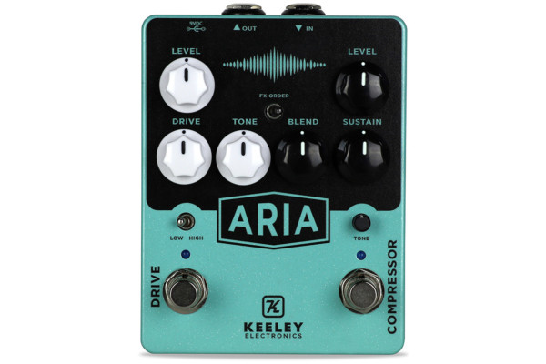 Keeley Electronics Introduces the Aria Compressor and Overdrive Pedal