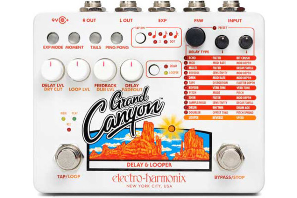 Electro-Harmonix Introduces the Grand Canyon Delay with Looper Pedal