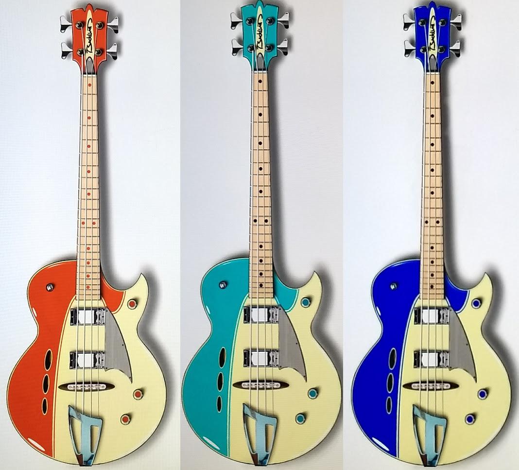 Eastwood Guitars Backlund Rockerbox Basses