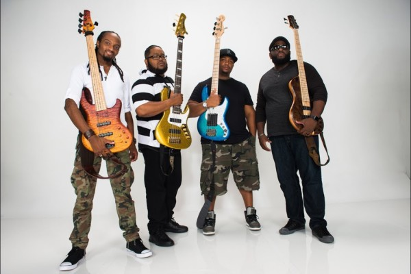 """Justin Raines, Daric Bennett, Kenneth """"Kaybass"""" Diggs, and Alan """"Snoop"""" Evans: Gospel Shout Bass Shed"""