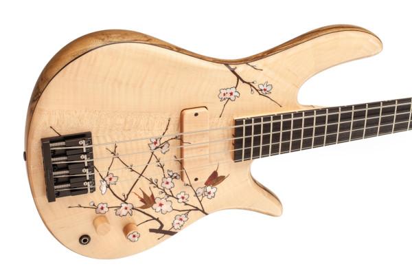 Fodera Unveils Masterbuilt Cherry Blossom Bass