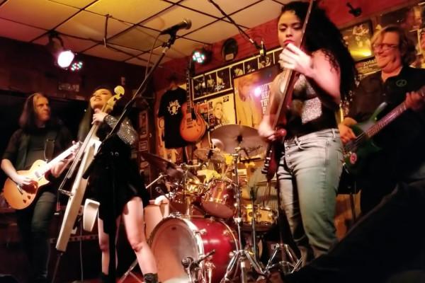 Mohini Dey, Stuart Hamm, Tina Guo, and Alex Skolnick: NAMM Jam