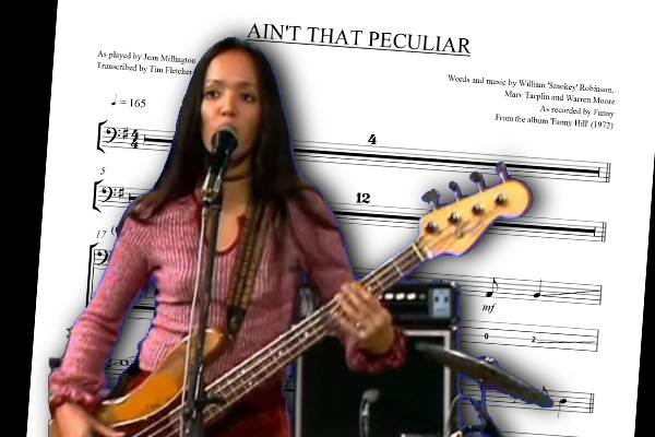 "Bass Transcription: Jean Millington's Bass Line on ""Ain't That Peculiar"" by Fanny"