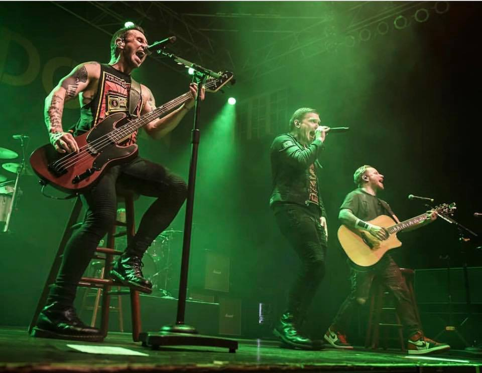 Eric Bass with Shinedown