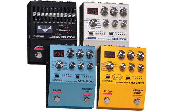 Boss Announces the 200 Pedal Series