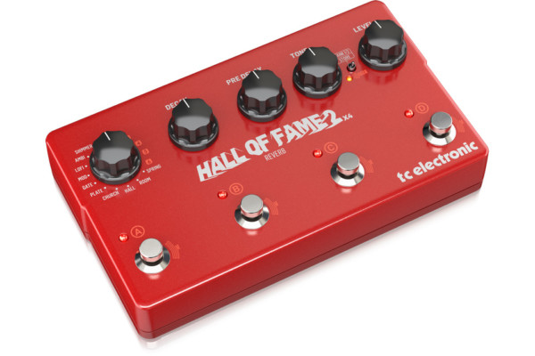TC Electronic Introduces the Hall of Fame 2×4 Reverb Pedal