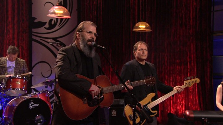 Kelley Looney with Steve Earle Leno Show
