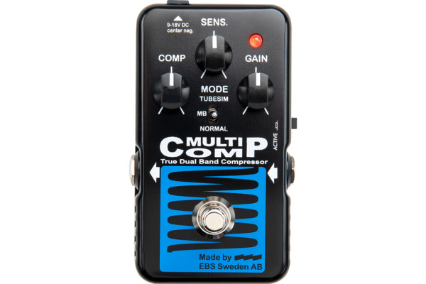 EBS Adds MultiComp to Blue Label Pedal Series