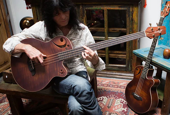 Rudy Sarzo Playing Signature Acoustic-Electric Bass
