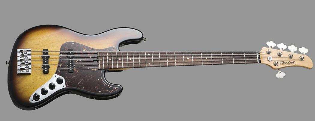 Mike Lull Custom Guitars M5V Bass Burst
