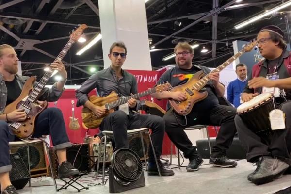 Hadrien Feraud, Federico Malaman, Dario Chiazzolino, and Kalyan Pathak: NAMM Performance