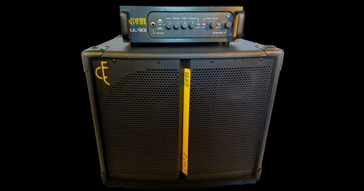 Epifani UL901 Bass Amp and DIST 2 1x12 Bass Cabinet