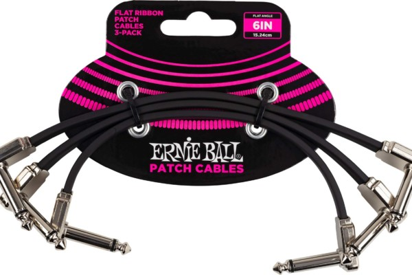 Ernie Ball Now Shipping Flat Ribbon Patch Cables