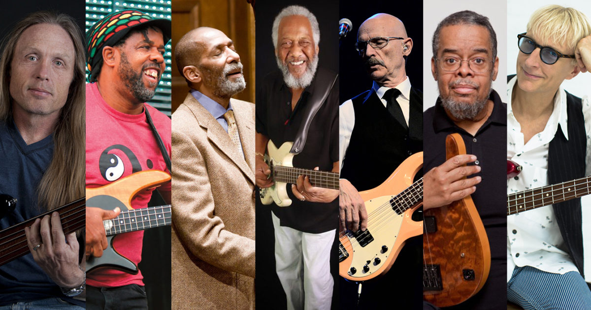 Steve Bailey, Victor Wooten, Ron Carter, Chuck Rainey, Tony Levin, Anthony Jackson, and Will Lee