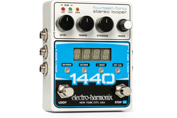 Electro-Harmonix Announces the 1440 Stereo Looper Pedal