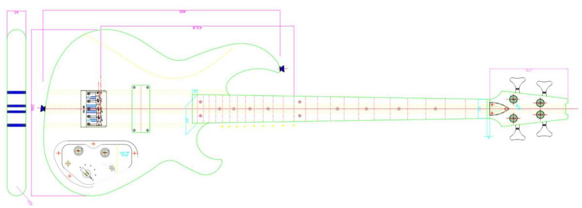 Eastwood SB-1000 Bass Diagram