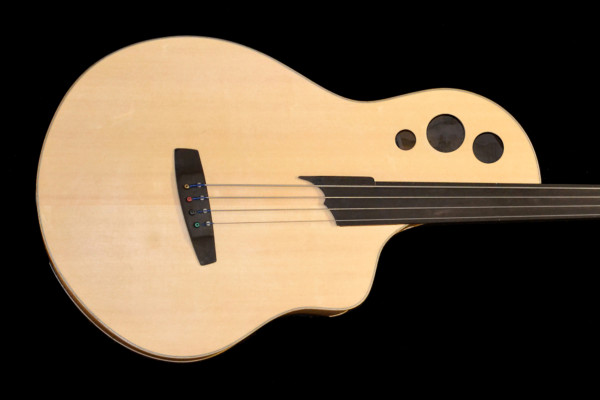 "Bass of the Week: Fleishman Guitars ""Big Bass"" Multi-Scale Acoustic Fretless Bass"