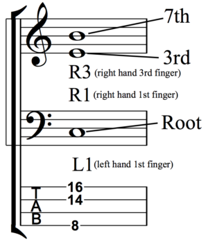 Developing Simultaneous Chordal and Bass Line Accompaniment - Fig 1c