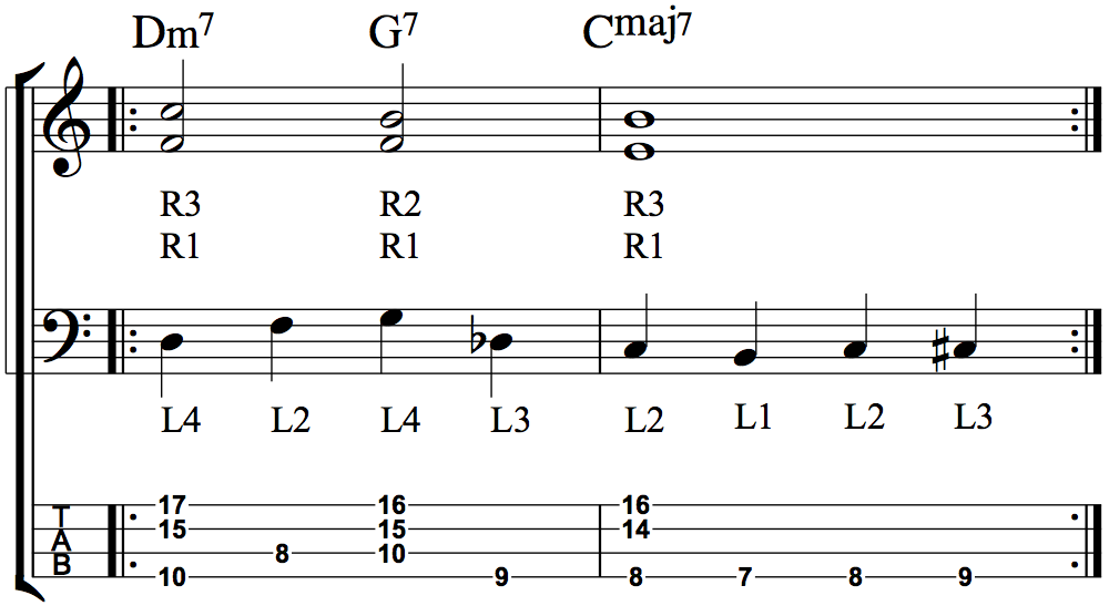 Developing Simultaneous Chordal and Bass Line Accompaniment - Fig 4