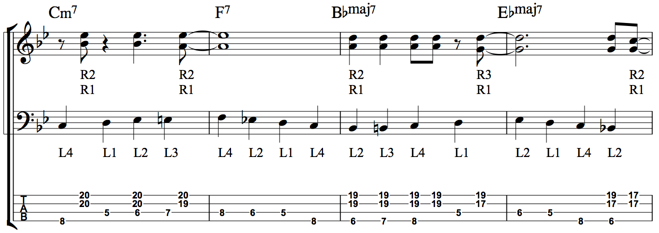 Developing Simultaneous Chordal and Bass Line Accompaniment - Fig 5a