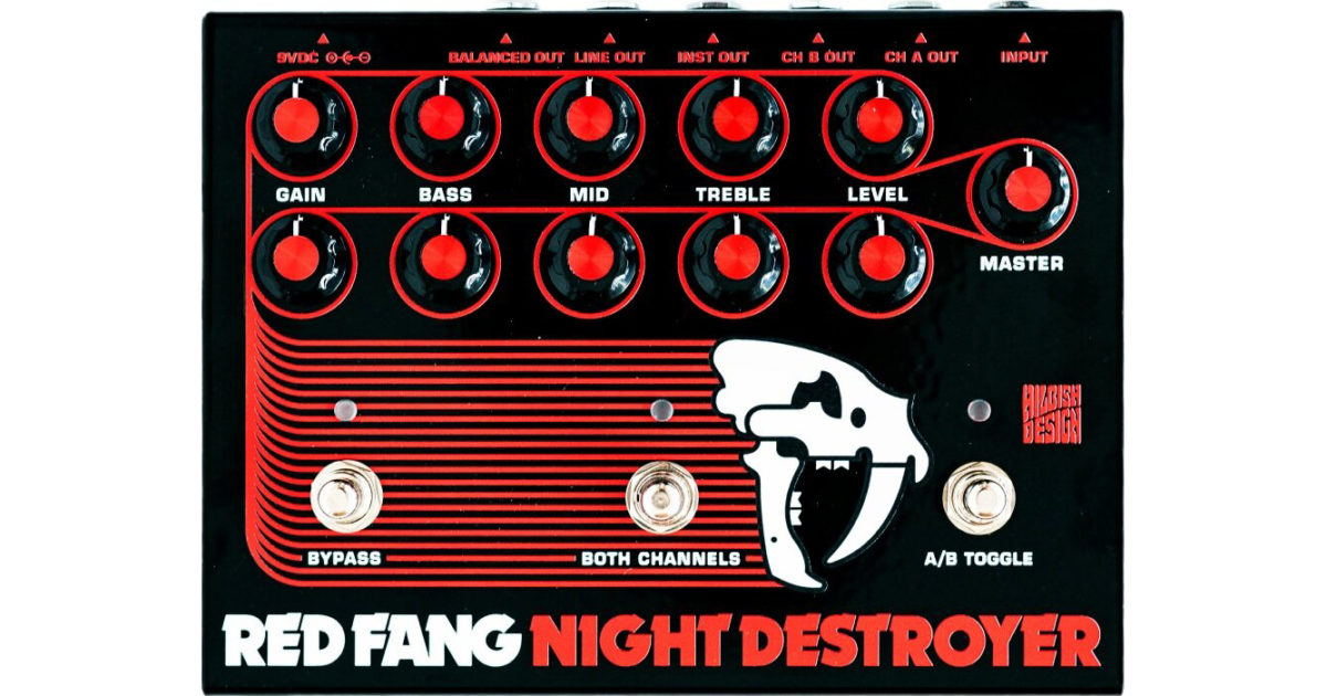 Hilbish Design Red Fang Night Destroyer Preamp Pedal