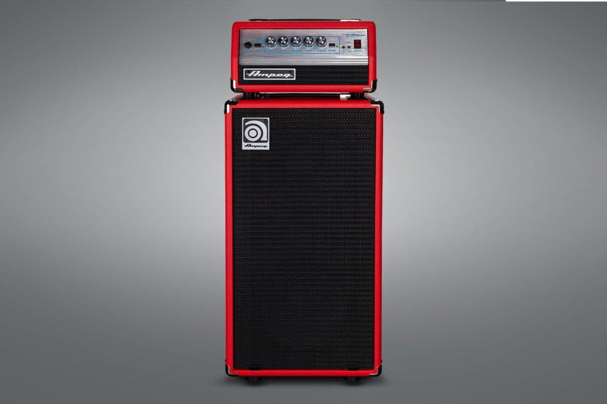 Ampeg Micro-VR Limited Edition Red Bass Head and Cabinet