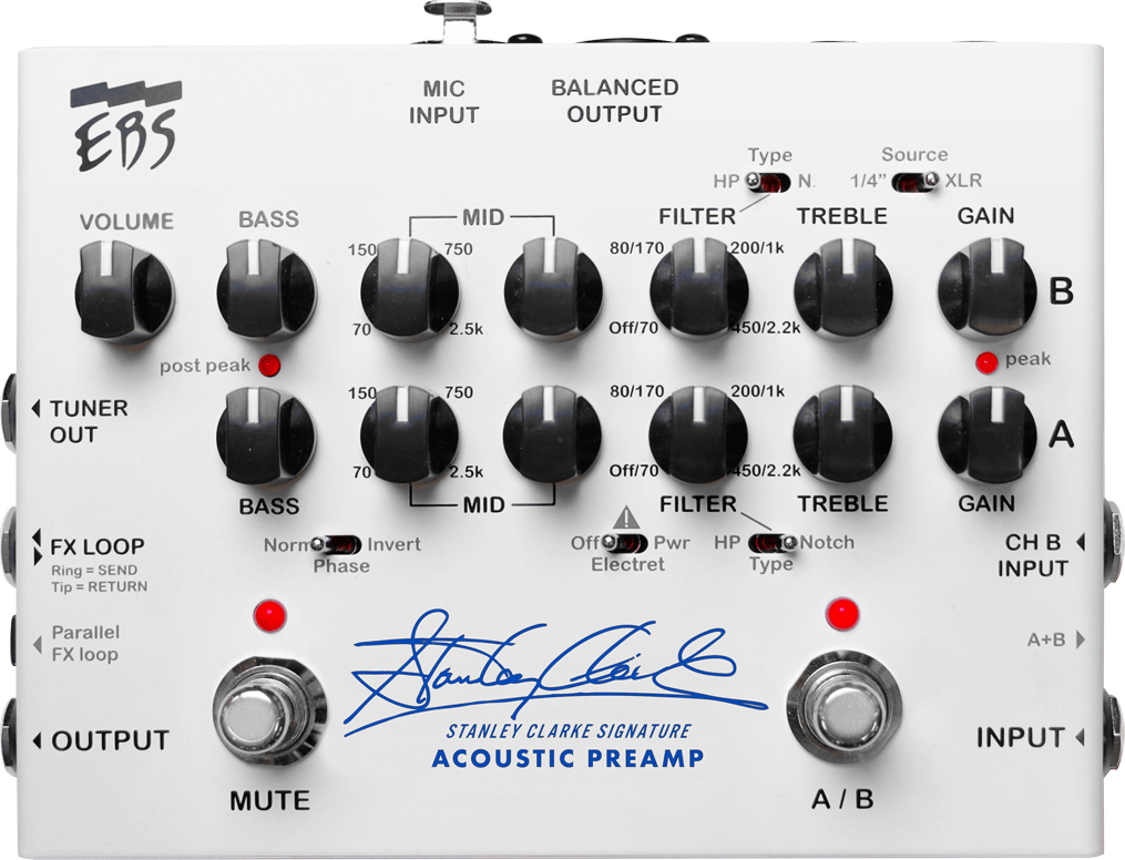 EBS Stanley Clarke Signature Acoustic Preamp Pedal