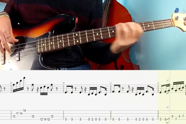 """EuBasss: """"Good Love Is On The Way"""" Bass Playalong and Transcription"""