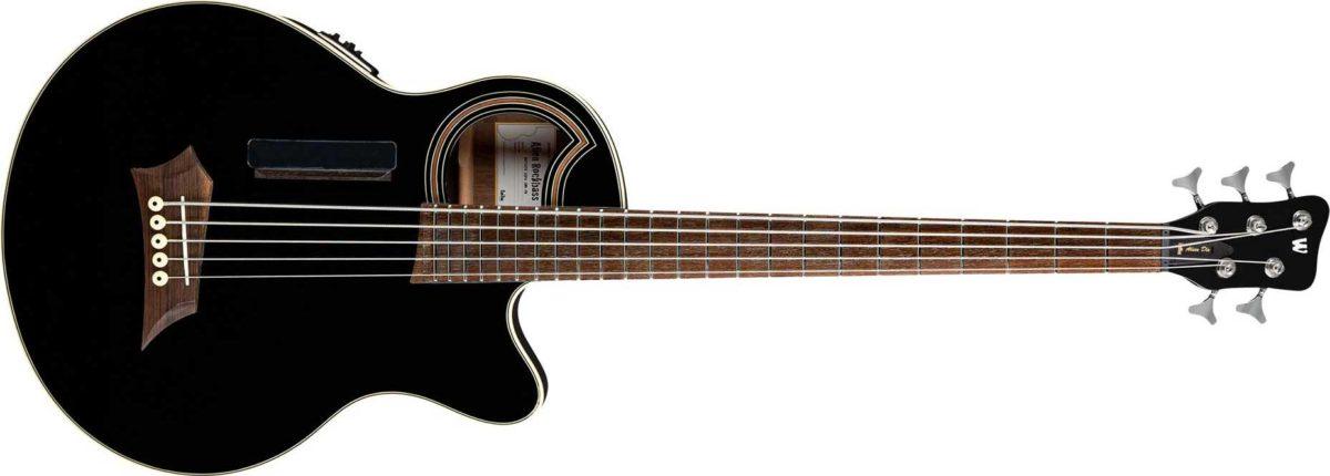 Warwick Rockbass Alien Deluxe Hybrid Thinline 5-String Bass Solid Black SaJn Finish