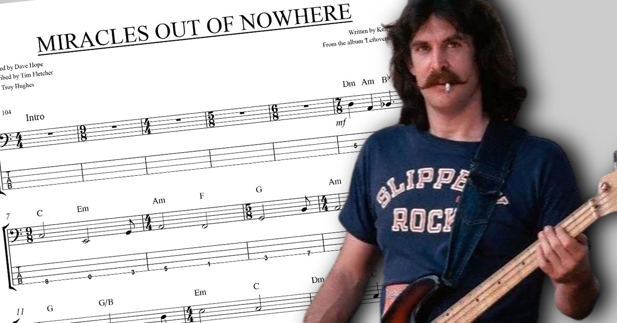 Dave Hope: Miracles Out Of Nowhere Transcription