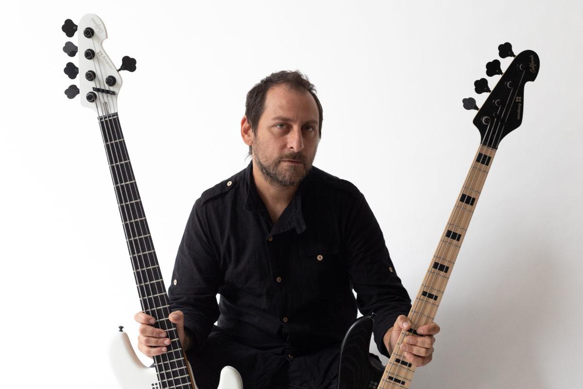 Martin Mendez with Sandberg Guitars Martin Mendez Signature Basses