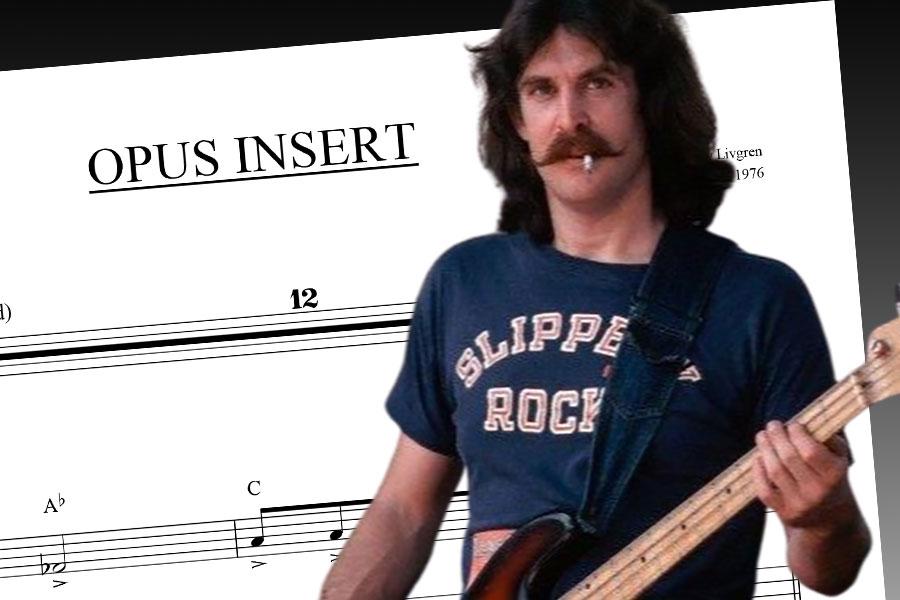 "Dave Hope: ""Opus Insert"" Bass Transcription"