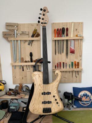 Kriz Lenz Ikejima Four Fretless Bass