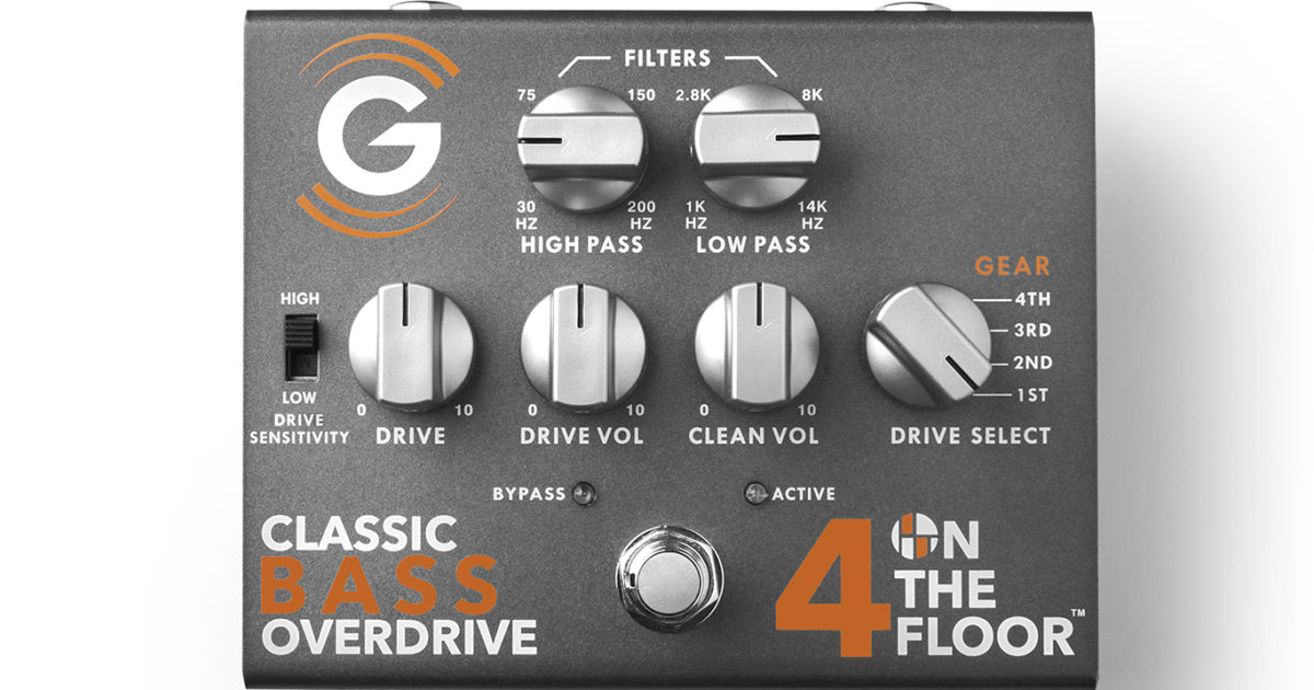 Genzler Amplification 4 On The Floor Bass Overdrive Pedal